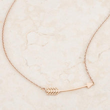 Load image into Gallery viewer, Arianna Rose Gold Stainless Steel Arrow Necklace