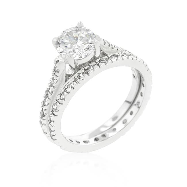 Glistening Engagement Ring Set