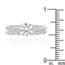 Load image into Gallery viewer, Glistening Engagement Ring Set