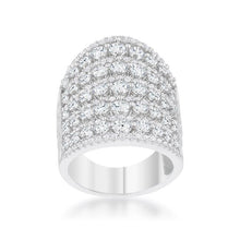 Load image into Gallery viewer, Charlyn 2.5ct Rhodium CZ Statement Cocktail Ring