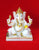 Seated Marble Ganesh Statue with Pillow 7