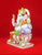 Relaxed Marble Ganesh Murti with Takiya 10