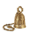 Big Pooja Bell in Brass Featuring Various Gods