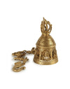 Brass Puja Bell Featuring Ganesha (Medium) (1590667345977)