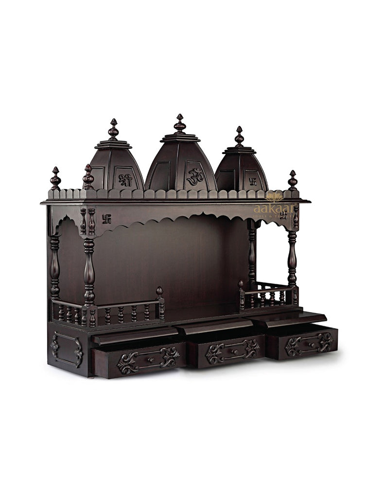 5de297f7332 Pooja Temple for Home - 36 VO-Wooden Temples-Aakaar.com