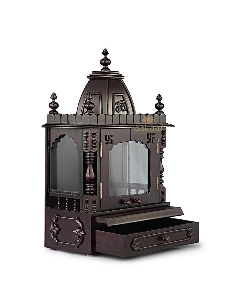 b9bebc9ca3d9 Pooja Temple with Glass Doors - 15 VC-Wooden Temples-Aakaar.com