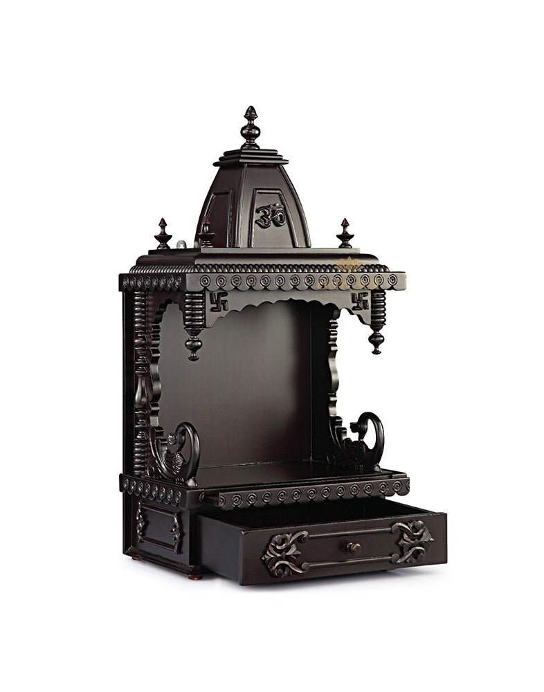 d4d74ca24cd Wooden Pooja Mandir Temple Design for Home - 15 KM – Aakaar.com