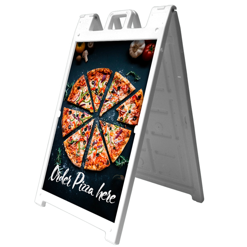 Signicade® Deluxe Sign Stands - 46.125inH x 27inW - chicagofastbanners