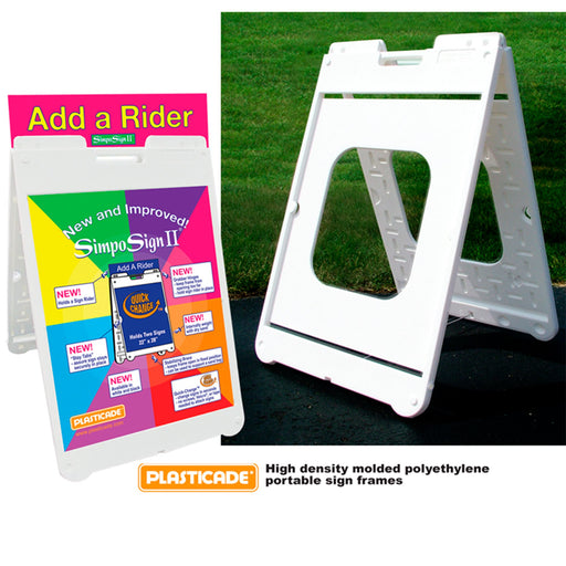 "SimpoSign II Sign Stands - 36""hx24""w - chicagofastbanners"
