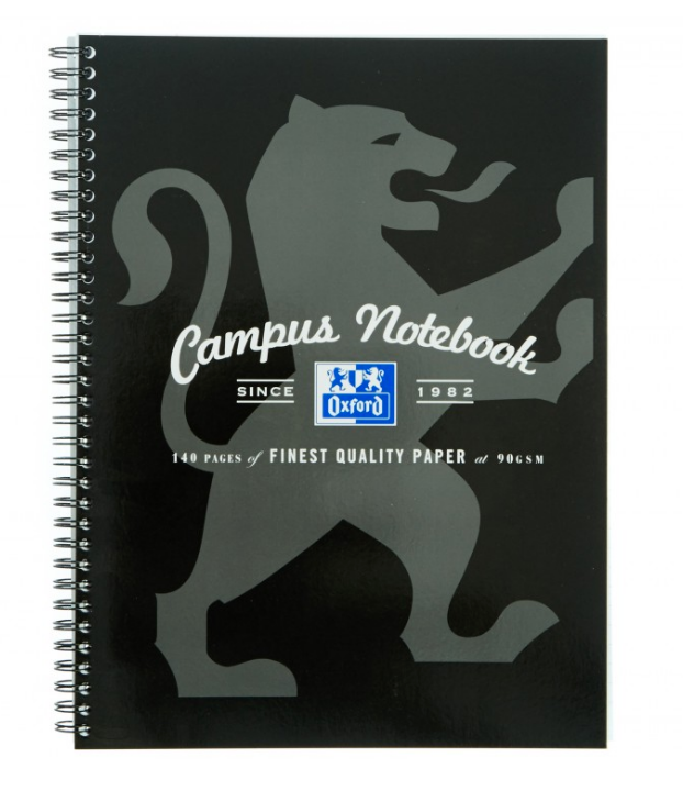 Oxford Campus Wiro Notebook A4 Assorted