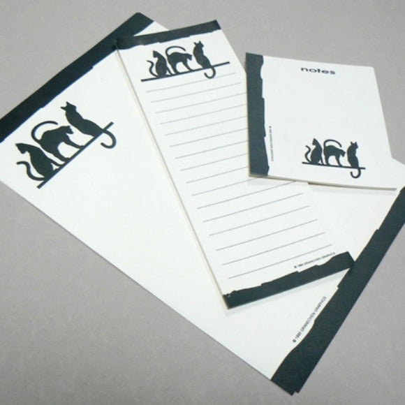 Black Cats Silhouettes Stationery