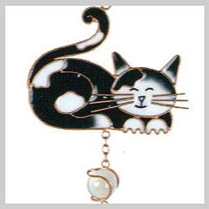 Black & White Cat Wind Chime