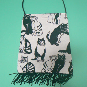 Black & White Cats Tapestry Purse