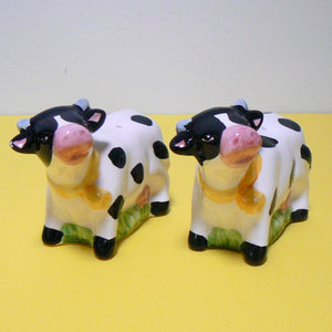Black & White Cows Salt & Pepper Shakers
