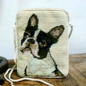 Boston Terrier Dog Needlepoint Purse