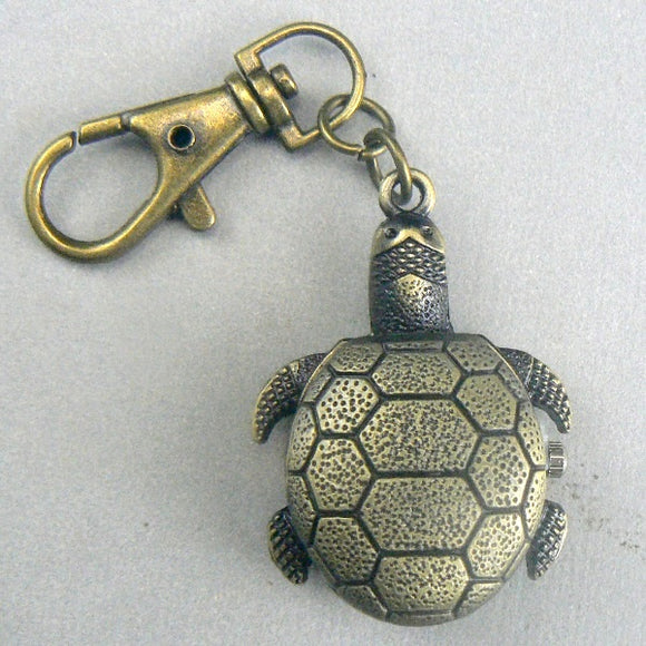 Bronze Turtle Flip Pocket Watch