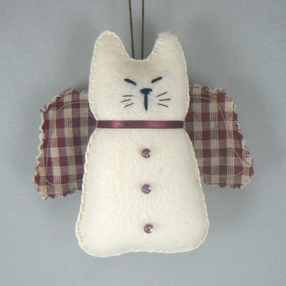 Cat Angel Felt Christmas Ornament
