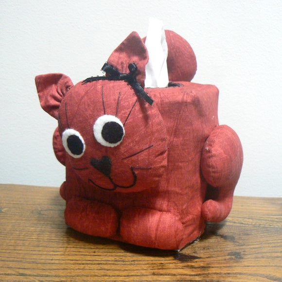 Cat Tissue Box Cover – Red