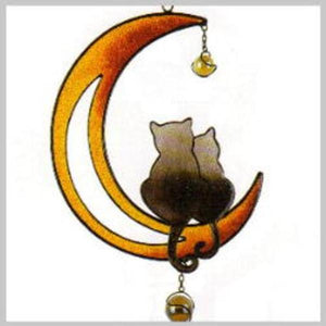 Cats on the Moon Wind Chime