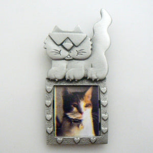 Cool Cat Pewter Frame Pin