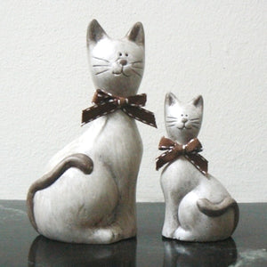 Cute Cats Ceramic Figurines