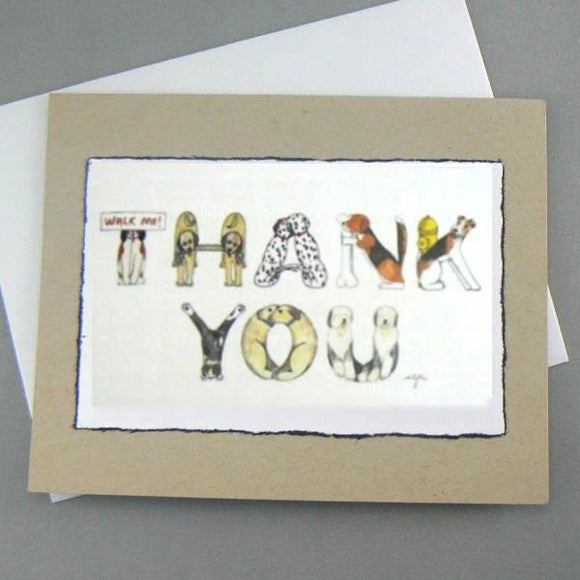 Dog Alphabet Thank You Cards