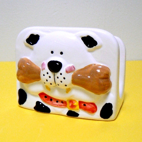 Dog with Bone Napkin Holder