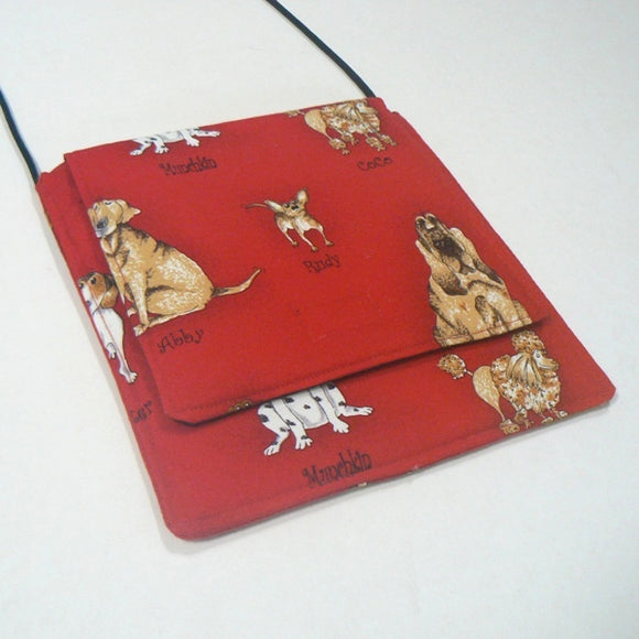 Dog Names on Red Small Square Purse