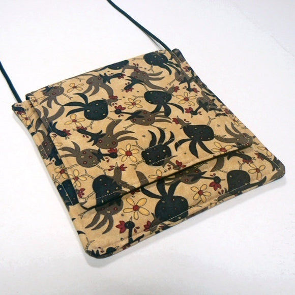 Funky Chickens - Small Square Purse