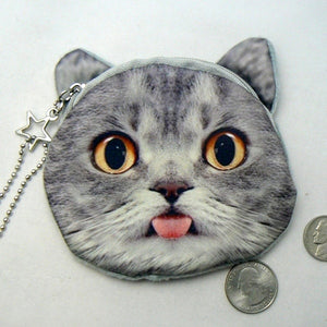 Funny Cat Face Coin Change Purse