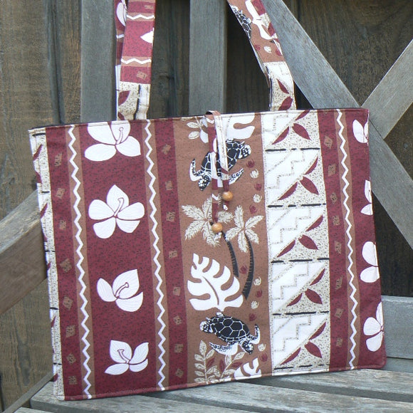 Hawaiian Zing Turtles Padded Tote