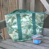 Insulated Lunch Bag with Leaping Frogs