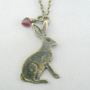 Jackrabbit rabbit (Bronze Toned) Necklace
