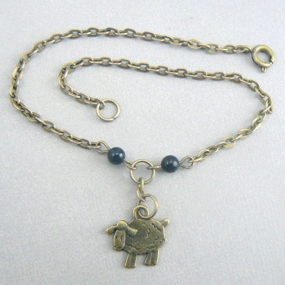 Little Sheep Bronze Anklet