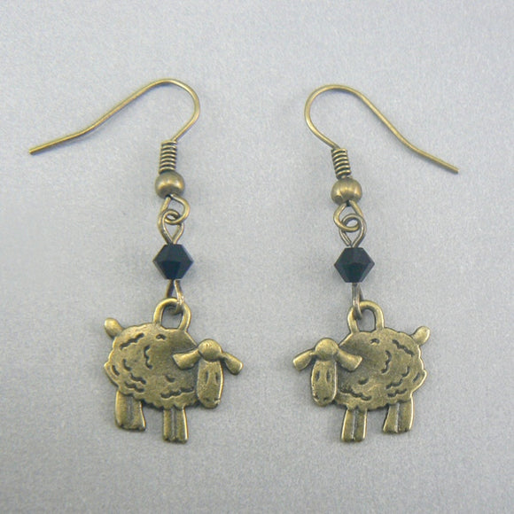 Little Sheep Bronze Earrings