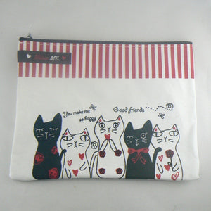 Meow Me Cat Zippered Pouch