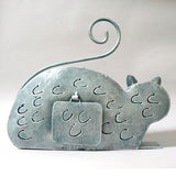 Metal Gray Cat Lantern Candle Holder 2