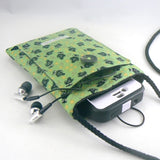 Mini Purse with Owls on Green -2