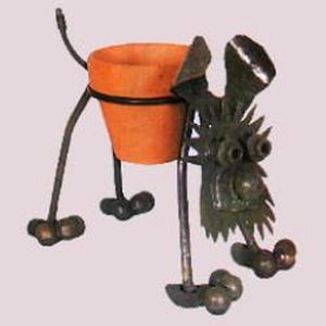 Nuts n Bolts Dog Plant Holder Planter
