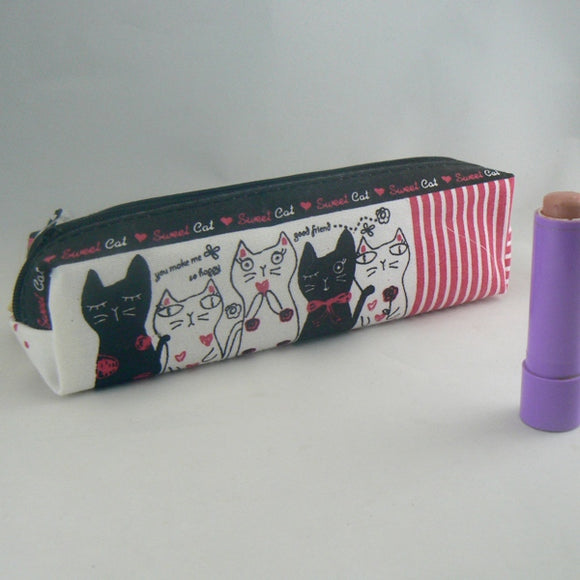 Meow Me Kitty Cats Zippered Pen Pencil Case