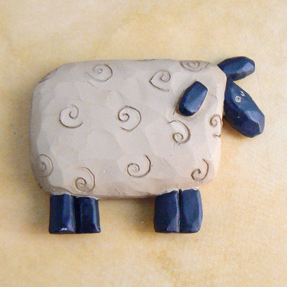 Primitive Sheep Resin Pin