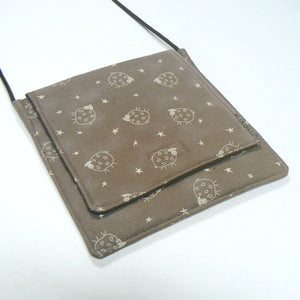 Primitive Sheep Small Square Purse