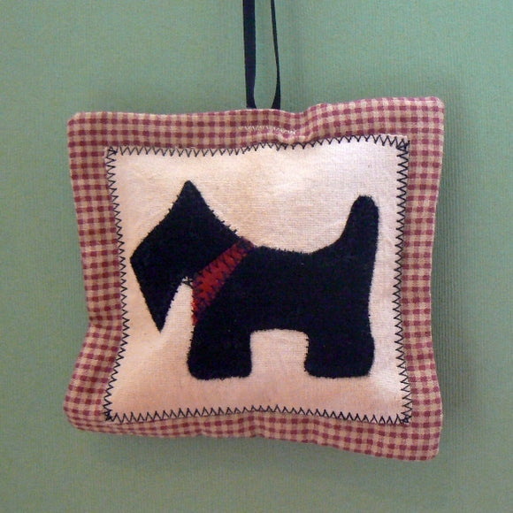 Scottie Appliqué Pillow Christmas Ornament
