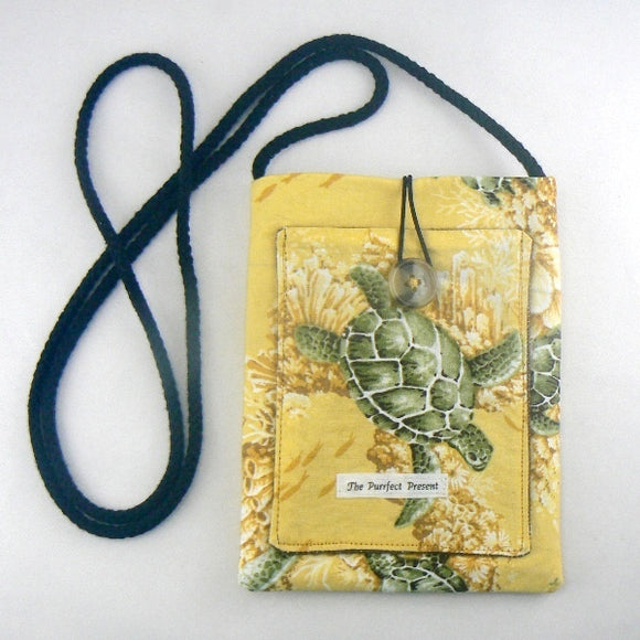 Sea Turtles on Yellow Mini Purse
