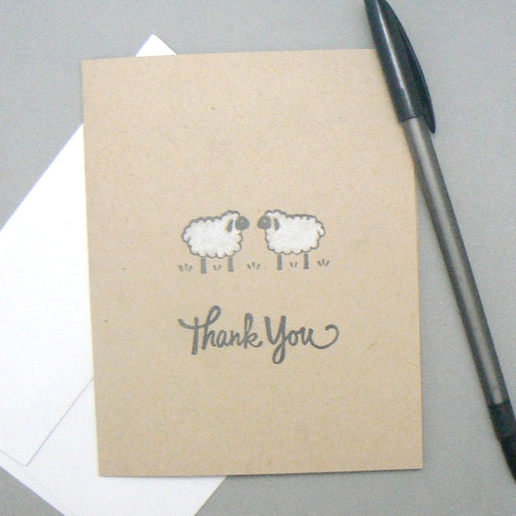 Sheep Thank You Greeting Cards – Set of 5