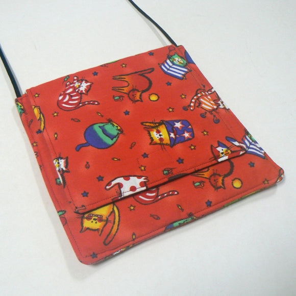 Small Square Purse with Tubby Cats
