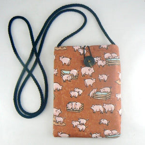 Mini Pouch with Little Hogs