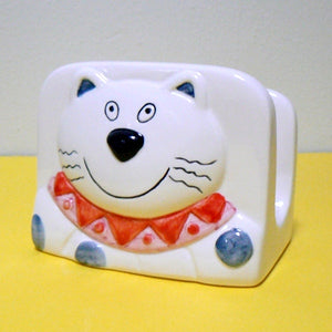 Smiling Cat Napkin Holder