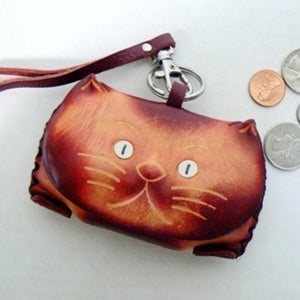 Playful Cats Oval Stamp Holder / Dispenser