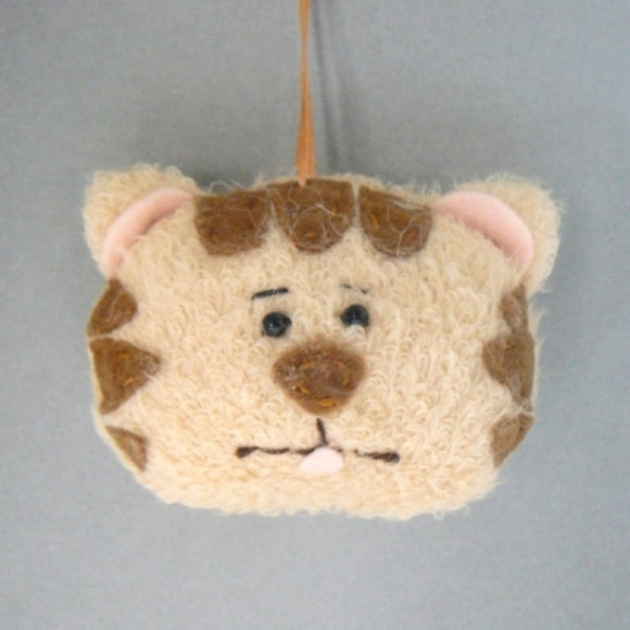 Tiger Tabby Cat Head Ornament